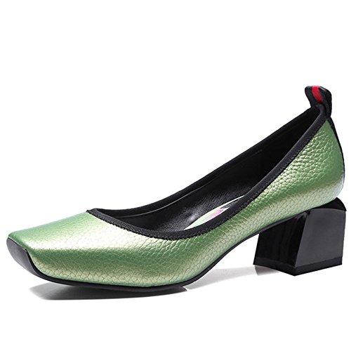 Nine SevenLoafer Shoes - Sandalias con cuña mujer Verde