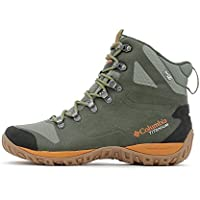 Columbia Men's Peakfreak Venture Titanium Outdry Boot (Surplus Green, Bright Copper)