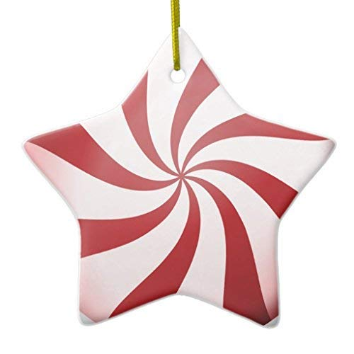 (659ParkerRob Christmas Ornaments, Red and White Peppermint Candy Christmas Ornaments Tree Decoration,Keepsake,Birthday,Annivesary,Xmas Gifts,Home Decor)