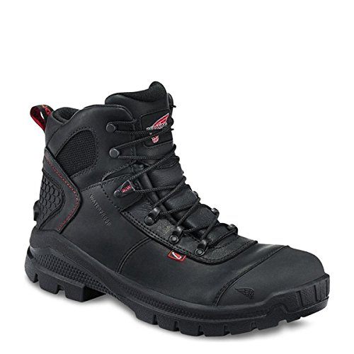 "MEN'S 6"" WORK BOOT (RW 423, 436) ELECTRICAL HAZARD, WATERPROOF (8.5d, BLACK YUKON LEATHER)"