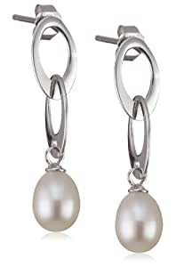 Valero Pearls 60201245 - Pendientes de mujer de plata con perla cultivada de agua dulce