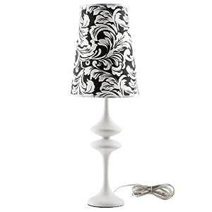 LexMod Illusion Modern Table Lamp, White
