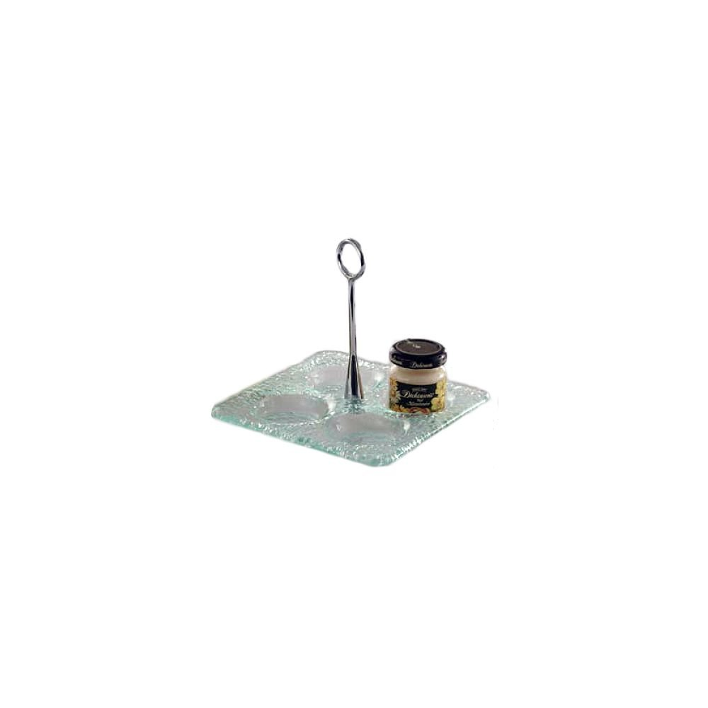 Culinaire GL-01 6'' Square Jelly Jar Display