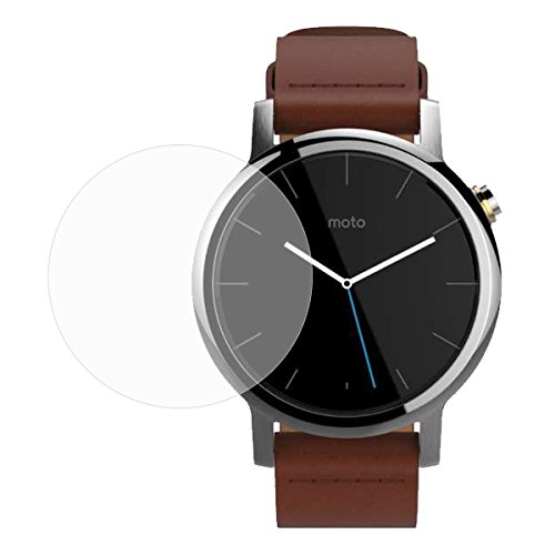 Yishun 2.5D Round Edge/99 Percent Clarity/0.3mm/9H Hardness/Shatter-Proof, Glass Screen Protector for Motorola Moto 360 2nd 46mm - Glasses Best Round Face For Shaped