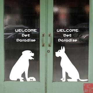 Puerta corredera de cristal Pet pet Pet shop belleza decoración ...