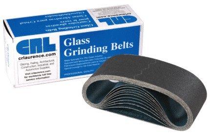 CRL 3'' x 21'' 400 Grit Portable Glass Grinding Belts - 10 pack