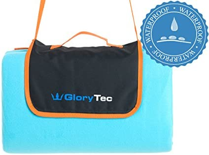 Glorytec Extra Large Picnic Outdoor Blanket 78 X Water Resistant Triple Layers Handy Mat With Strap For The Beach Camping