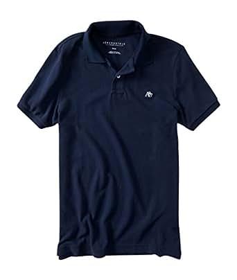 Aeropostale men 39 s a87 solid logo piqu polo shirt xs for Amazon logo polo shirts
