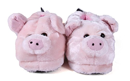 Happy Feet 50+ Styles - Premium Full Foot Mens and Womens Animal Slippers Pig - Top Seller ZP8Ctrje