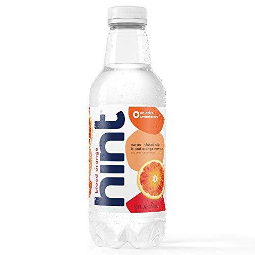 Hint Water Blood Orange, (Pack of 12) 16 Ounce Bottles, Pure Water Infused with Blood Orange, Zero Sugar, Zero Calories, Zero Sweeteners, Zero Preservatives, Zero Artificial Flavors ()