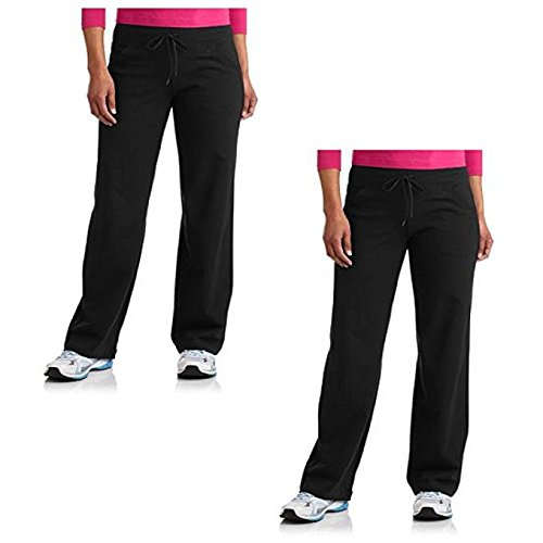 Womens Plus Sized Relaxed Fit Yoga Pant Value Pack of 2 by Danskin Now Black (1X)