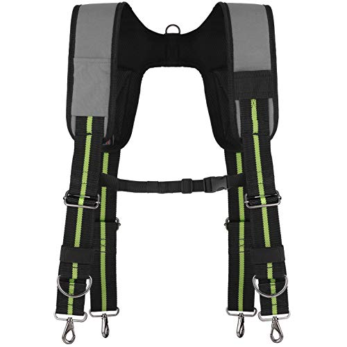 - Padded Tool Belt Suspenders w/Phone Clip, Chest Strap, Pencil Sleeve   Lightweight Comfortable & Strong Durable   Adjustable 1000D Ballistic Material   Contractor Grade Framer Suspension Rig