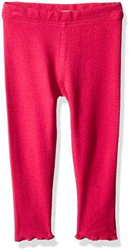 (Gymboree Baby Girls Lettuce Edge Ribbed Leggings, Bright Pink 3-6 Mo)