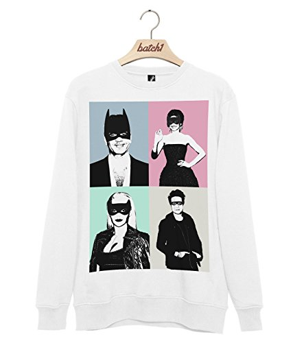 Batch1 The X Factor Superhero Mask Halloween Fancy Dress Unisex Fashion Sweatshirt Jumper (XX-Large, (Halloween X Factor)