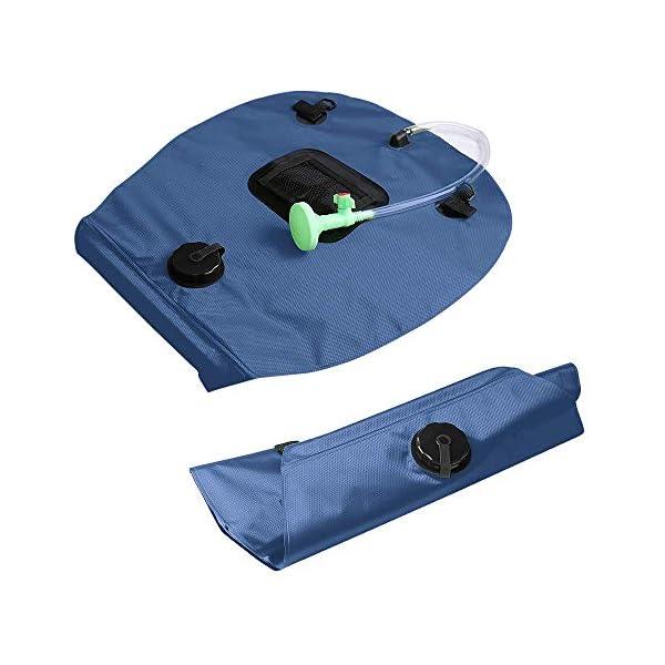 41lggs9ZVqL KIPIDA Solardusche Outdoor, 20L Campingdusche Solar Wassersack Heizung Camping Dusche Tasche mit Duschkopf Gartendusche…