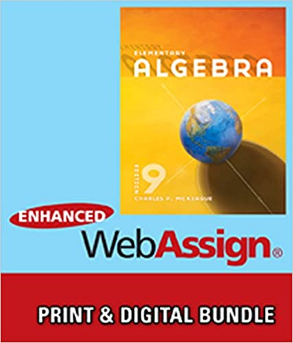Bundle elementary algebra 9th webassign printed access card for bundle elementary algebra 9th webassign printed access card for mckeagues elementary algebra 9th edition single term charles p mckeague fandeluxe Images