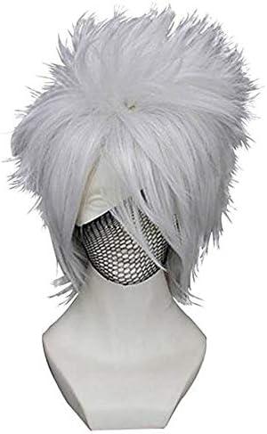 Gorra de pelo + HOT Anime Naruto Hatake Kakashi Cosplay peluca ...