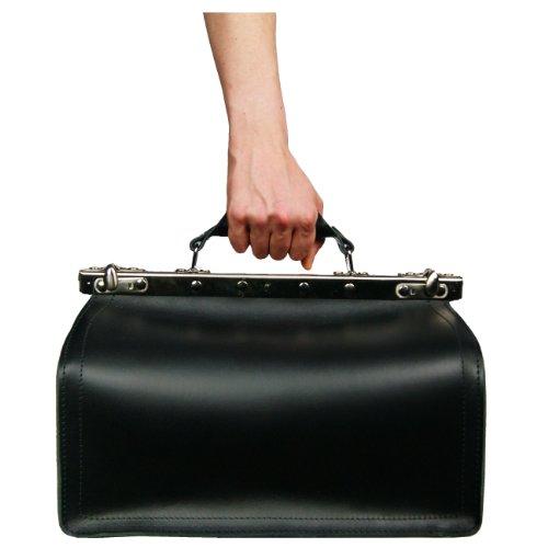BARONE di MALTZAHN Borsa da medico VON BINGEN nera in cuoio - Made in Germany Descuento Wiki 3UIA8CMq8W