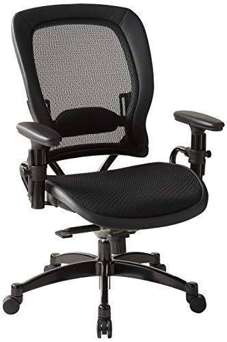SPACE Seating Breathable Mesh Seat and Back, 2-to-1 Synchro Tilt Control, Adjustable Arms and Lumbar Support, with…