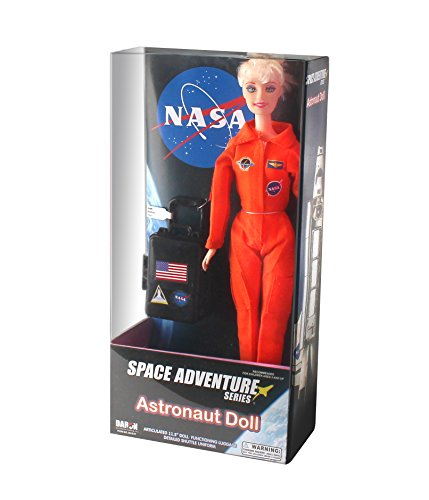 Daron Astronaut Doll (Female - Blonde) in Orange Suit (Orange Nasa Flight Suit)