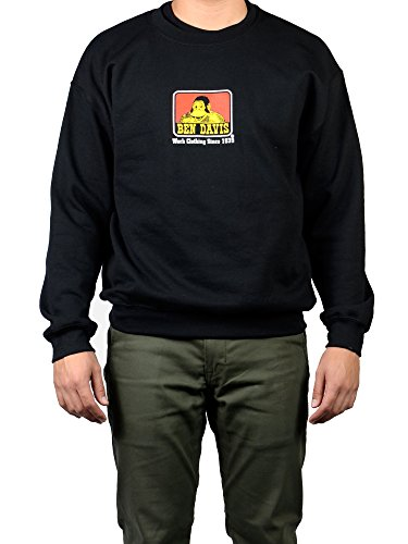 (Ben Davis Men's Gorilla Logo Crew Neck Pullover Sweatshirt, Black (2X-Large,)