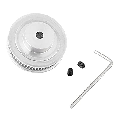 Stepper Motor 60 Tooth 5mm Bore Aluminum GT2 Timing Belt Pulleys + 1pc wrench + 2pcs screws For 3D Printer