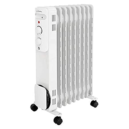 ef7abc77a2f Jack Stonehouse 9 Fin 2KW Portable Electric Oil Filled Radiator Heater in  White - 3 Heat