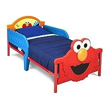 Delta Children 3D Plastic Toddler Bed, Sesame Street
