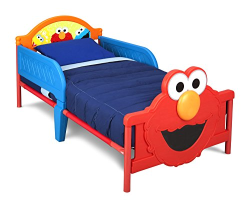 Delta Children 3D-Footboard Toddler Bed, Sesame Street