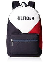Tommy Hilfiger Logo Laptop Backpack, Multi, International Carry-On (Model: 8816131)