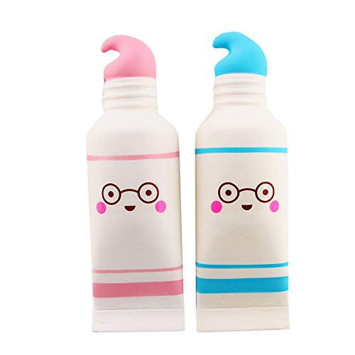 Toothpaste Squishy Squeeze Stress Reliever Cream Scented Slow Rising Soft Sensory Toy (Multicolor)]()