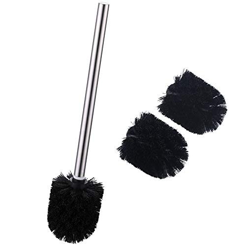 Toilet Brush Head, Angle Simple Replacement Brush Head, Toilet Bowl Brush Head, Toilet Bowl Cleaning Brushes, Toilet Scrubber, Brush Wand with 3 Brush Heads