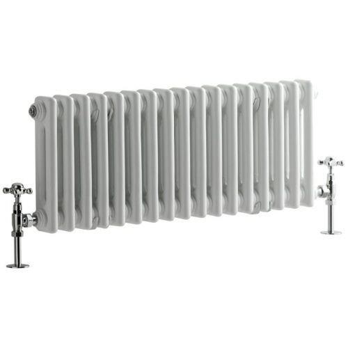 Hudson Reed - Regent - Stunning White Vertical 4-Column Traditional Cast-Iron Style Radiator - 70.75