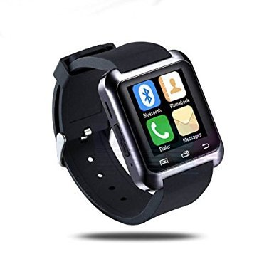 Mifine Universal 2015 Luxury Bluetooth3.0 Smart Watch Wrist Wrap Watch Phone for Android Samsung S2/s3/s4/note 2/note 3 HTC .. Black