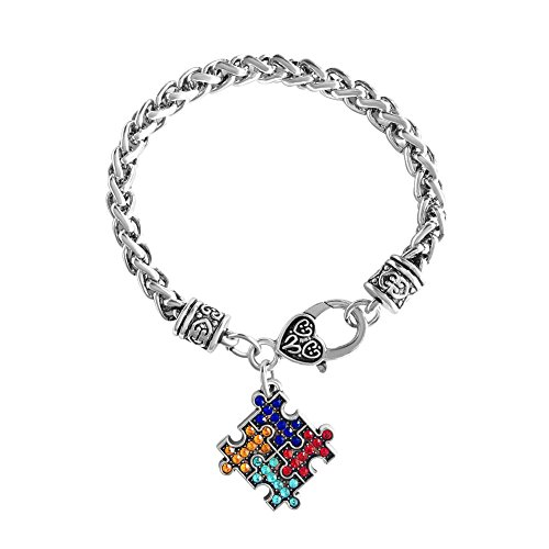 Awareness Puzzle Pieces Charm Bracelet ()