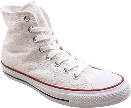 Converse Femmes Chuck Taylor Toutes Étoiles Salut Sneakers Blanc / Grenat / Clématite Bleu Femmes 5