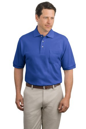Port Authority Pique Knit Sport Shirt with Pocket - Faded Blue K420P 3XL