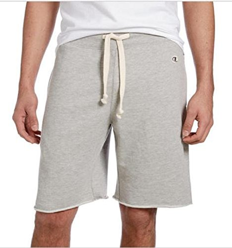 (Elastic Waistband with Drawstring Champion Men's French Terry Short (X-Large, Gray) )