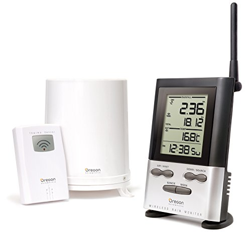 Oregon Scientific Wireless Rain Gauge Weather Station with Remote Sensor - Temperature Readings