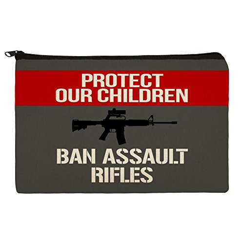 Protect Our Children Ban Assault Rifles Makeup Cosmetic Bag