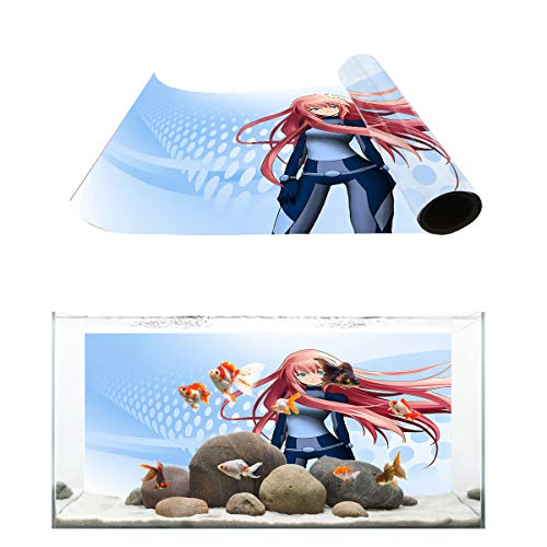 Fantasy Star Aquarium Background Anime Sci-fi Girl Fish Tank Wallpaper Easy to Apply and Remove PVC Sticker Pictures Poster Background Decoration 20.4
