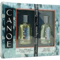 Dana Canoe 2 Piece Set with Eau de Toilette Spray + After Shave Splash for Men, 2.0 Ounce