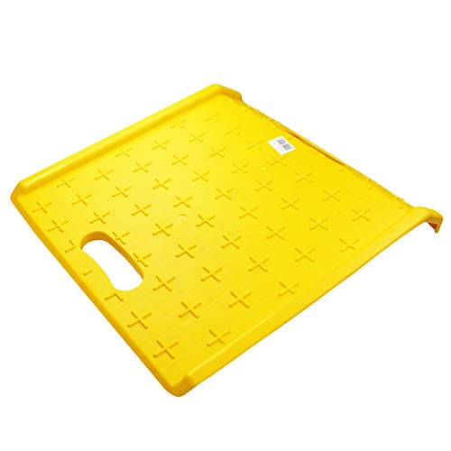 (RK Safety RK-PCR27- Heavy Duty 1000 lbs Portable Curb Ramp for Hand Truck Delivery, Carts (Yellow) )