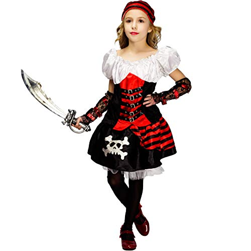 Girl's Luxury Buccaneer Steampunk Pirate Fancy Dress Costume (10-12) -