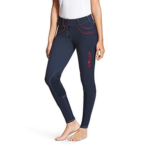 ARIAT Women's Olympia Acclaim Lr Front Zip Knee Patch Breech Team Navy Size 26 Regular