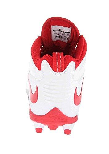 Nike Mens Huarache 4 Slappa Lacrosse Knapar Vit / Universitet Röd