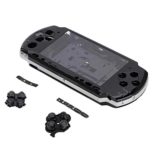 Zopsc Replacement Full Housing Console Game Shell Case Cover Repair Parts for PSP 3000 Anti-Scratch Portable Replacement Shell for PSP3000 with Screwdriver(Black) (Psp Games Driver)