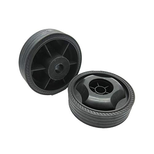 XMHF 115mm Dia Anti-Slip Wheels for Air Compressor Plastic Trundle Black 2Pcs
