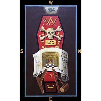 RARE Master Mason 3rd degree Masonic Symbolic Plate art chart trestle  tracing board print