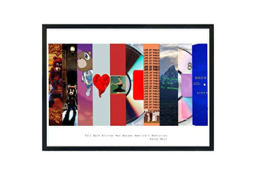 Custom Kanye West Art Collage Poster,TLOP Pablo Song Lyric Quote Digital Print 12x18 Living Room Bed Room Art (FRAME NOT INCLUDED)